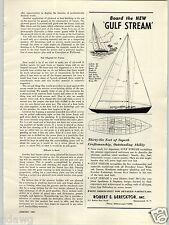 1953 PAPER AD Gulf Stream 36' Sail Boat Sailboat Sparkman & Stephens Derecktor