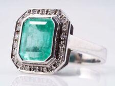 Anelli di lusso con gemme in oro bianco misura anello 18