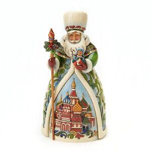 Enesco H0 Heartwood Creek Jim Shore Christmas 7in Russian Santa Figurine 4017650