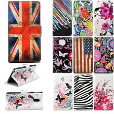 Men Women Leather Flip Stand Wallet Cover Case for iPhone 4S 5S 6 Sony M2 Z2 Z1