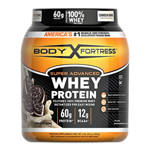 Body Fortress Super Advanced Whey Protein Powder, Cookies N' Cream, 2 May Vary
