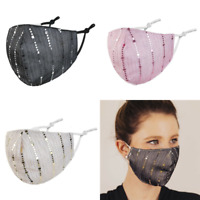 Stoffmaske Gesichtsmaske Mundnasenmaske Maske Pailletten 3 Farben