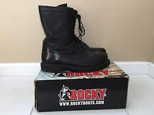 "Rocky Black Leather 10"" Paraboot Boots Zipper Side Size 13M #2090"
