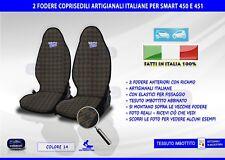 COPRISEDILI SMART FORTWO FODERE FODERINE COPRI SEDILE PER AUTO 451 SET COPRI CON