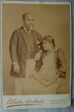 VINTAGE REAL SNAPSHOT BLACK & WHITE PHOTOGRAPH OF INDIAN MARRIED COUPLE