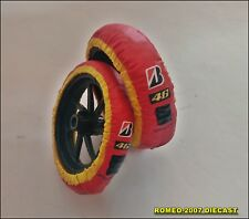 1:12 Tire Warmer Termocoperte Ducati Valentino Rossi 2011 2012 to minichamps NEW