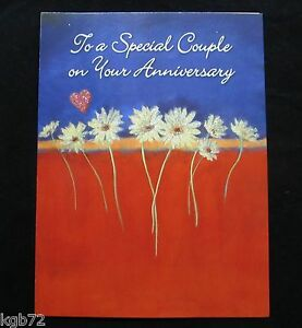 Leanin Tree Anniversary Greeting Card Love Flowers Multi Color R64
