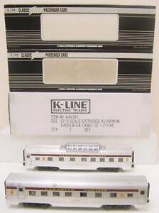 "K-Line K4618C Canadian Pacific 15"" Passenger Car (Pack of 2) NIB"