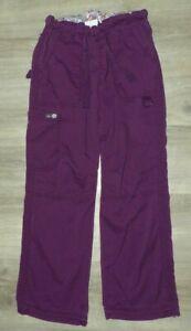 Women's Size XS Petite Koi Lindsey Pants 701P Purple Merlot Scrub Bottoms