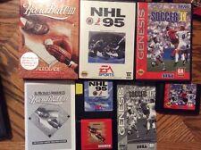 Lot Of 3 Sega Genesis Games Soccer II, NHL 95 & Hard Ball III  Tested