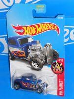 Hot Wheels 2017 HW Flames Series #223 '32 Ford Blue w/ 5SPs
