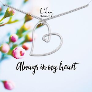 Lily Charmed 'Always In My Heart' Sterling Silver Necklace