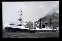 UK0821 - Clan Line Cargo Ship - Clan Macrae off shore - built 1942 - photograph