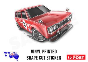 Datsun 510 Wagon Sticker Decal - 95mm  Super Treasure Hunt Hot Wheels Style!