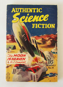 Authentic Science Fiction - No.16 / 1951 ~ The Moon is Heaven - H J Campbell