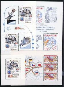 CZECHOSLOVAKIA 1960/80's COLLECTION of 11 S/S MNH PAINTINGS, SPACE