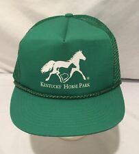Snap Back Mesh Trucker Hat Green Kentucky Horse Park Vintage 80's 90's