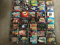 35 Boxed Complete SNES (Super Nintendo) Games - Contra 3/ Donkey Kong 3/ MK 3
