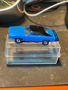 VINTAGE AURORA  MODEL MOTORING DODGE CHARGER  BLUE /BLACK   HO SLOT CAR