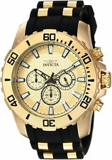 Invicta Mens Pro Diver Stainless Steel Analog-Quartz Watch W/ Silicone Strap,