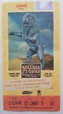 ROLLING STONES BRIDGES TO BABYLON TOUR SHEFFIELD 1999 TICKET STUB