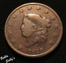 1829 Coronet Head Large Cent <> N-4 R4+ Close Date/Crack Through 'R' <>F Details