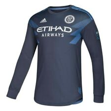 New York City FC Adidas Men's Navy Blue Authentic On-Field Long Sleeve Jersey