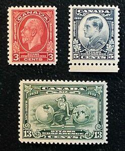 Sc #192-94 - Canada - 1932 - Economic Conference MNH - VF -  superfleas - cv$52
