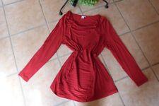 LIBERTY Shirt Tunika 44 46 (XL) TOP Zustand dunkelrot Wasserfall LAGENLOOK