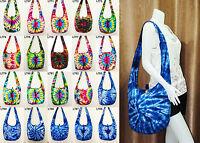 SALE Thai Hippie Tie Dye Hobo Sling Shoulder Crossbody Bag Purse Boho Large