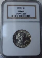 """1980 Susan B. Anthony Dollar """"NGC MS66"""" *Free S/H After 1st Item*"""