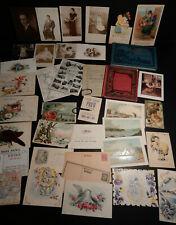 Ephemera-Postcards-Photo- Paper-Trade Card-Victorian-Antique-Mi sc-Nice Lot