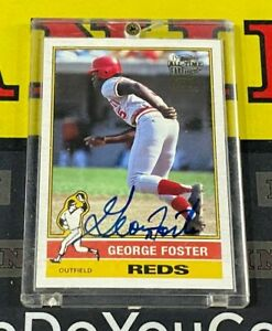 2004 Topps All-Time Fan Favorites George Foster Auto Cincinnati Reds