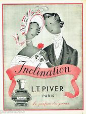 PUBLICITE ADVERTISING 026  1954  L.T  Piver  parfum Inclantion C. Talmar