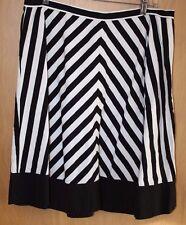 American Living Skirt~Sz 12~Black & White Stripe~Cotton~Unlined