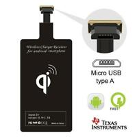 Qi Wireless Charger Adapter Charging Receiver for Micro USB Port LG Mobile Phone