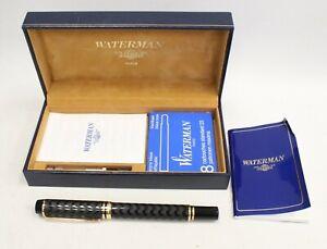 WATERMAN Ideal Fountain Pen 18K Nib, Ink Cartridges And Box - K20