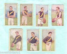 1920 AUSTRALIAN FOOTBALLERS MAGPIE CIGARETTE  CARDS  FOR RICHMOND