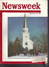 Newsweek Magazine Christmans December 26, 1949