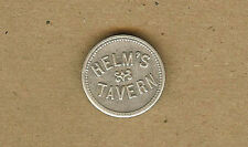 Vintage Helm's Tavern, DYSART, Iowa IA 5 Cents in Trade Helms TOKEN