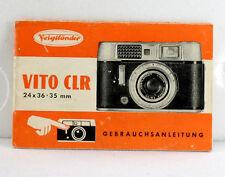 Voigtlaender Vito CLR Instruction Book, in German