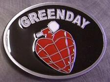 Pewter Belt Buckle Music Greenday NEW oval