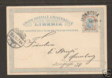 Liberia H&G 4 used 1895 3c Postal Card to HAMBURG   1;0