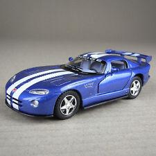 Blue Dodge Viper GTSR White Stripe Opening Doors Die-Cast Model Car 1:36 Scale