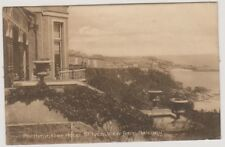 Cornwall postcard - Porthminster Hotel, St Ives from Balcony - P/U 1919 (A1369)