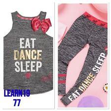 BNWT JOJO SIWA Girls Vest Top or Leggings Dance Gym sports Bow socks 4-12 year