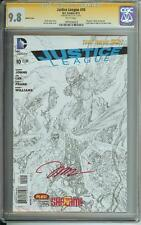 JUSTICE LEAGUE #10 DC NEW 52 SS CGC 9.8 SKETCH COVER SIGNED JIM LEE