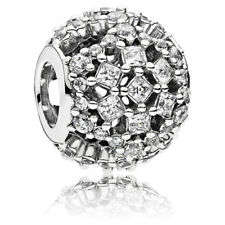 Authentic Sterling Silver Snow Flurry Charm CZ'S with GLITZ~Retail $60