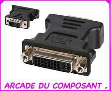 1 ADAPTATEUR DVI FEMELLE / VGA HD15 MALE (ref 85212-1)