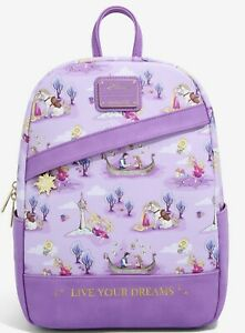 Loungefly Disney Rapunzel Tangled Live Your Dreams Mini Backpack